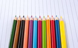 Blank paper and colorful pencil Stock Photography