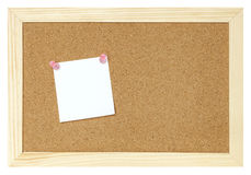 Blank paper on cork board Stock Photos