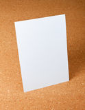 A4 Blank paper on corkboard background. Royalty Free Stock Photo