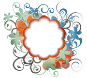 Blank paper craft floral background Stock Image
