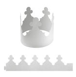 Blank paper crown Stock Photo