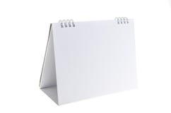 Blank paper desk spiral calendar.  Royalty Free Stock Photos