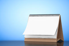Blank Paper Desk Spiral Calendar. 3d Rendering Royalty Free Stock Photos