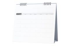 Blank paper desk spiral calendar isolated on white Stock Image