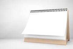 Blank paper desk spiral calendar Stock Photography