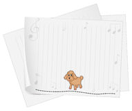 A blank paper with a dog Royalty Free Stock Photography