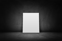 Blank paper on domestic room background Royalty Free Stock Photos