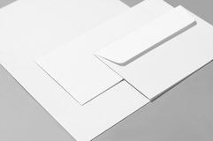 Blank paper and envelopes Royalty Free Stock Images