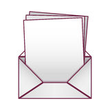 Blank paper envelopes opened with multiple sheets Royalty Free Stock Images