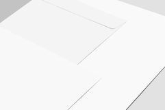 Blank paper and envelopes Stock Image
