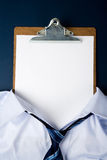 Blank Paper Face Stock Photo