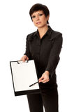 Blank paper in file Stock Photo