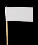 Blank Paper Flag on Black Background Royalty Free Stock Image