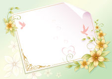 Blank paper with floral ornament Stock Images