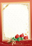 Blank paper with floral ornament Stock Image