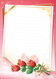 Blank paper with floral ornament Royalty Free Stock Images