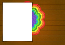 Blank paper and Flower Stock Photo