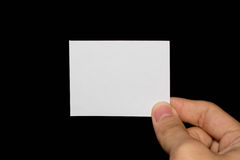 Blank paper. Hand holding blank piece of paper Stock Photo