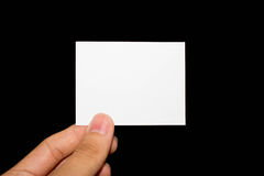 Blank paper. Hand holding blank piece of paper Royalty Free Stock Photos