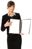 Blank Paper In Holder Stock Photos
