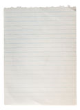 Blank Paper with line Stock Image