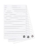 Blank paper with lined pattern pages isolated on white backgroun Royalty Free Stock Photos