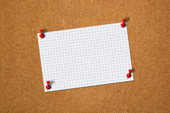 Blank paper memo on wood Royalty Free Stock Photo