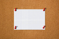 Blank paper memo on wood Stock Image
