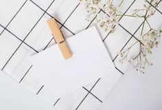 Blank paper mock-up in minimalist style Royalty Free Stock Photography