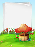 Blank paper with mushroom background Royalty Free Stock Photos