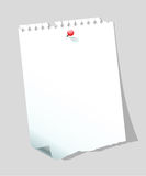 Blank paper note Stock Photos