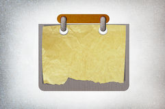 Blank paper note Stock Image