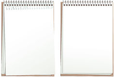 Blank paper note pads Stock Images