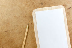 Blank paper note and pencil Stock Photos
