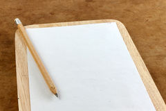 Blank paper note and pencil Royalty Free Stock Image