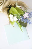 Blank Paper Note With Flowers Royalty Free Stock Images