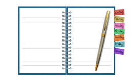 Blank Paper with Notebook Royalty Free Stock Photos