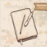 Blank Paper with Notebook Vector Royalty Free Stock Photography