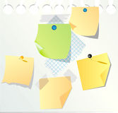 Blank paper notes Royalty Free Stock Photography