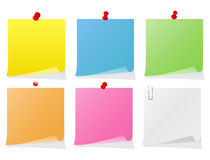 Blank paper notes Royalty Free Stock Images