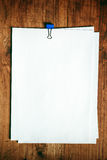 Blank paper on office desk, top view royalty free stock photography