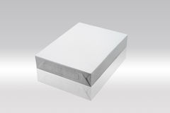Blank paper package. Blank package of paper in box royalty free illustration