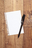 Blank paper page with a ballpen over it Stock Image