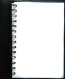 Blank paper page Stock Photo
