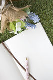Blank paper page with bouquet Royalty Free Stock Photos
