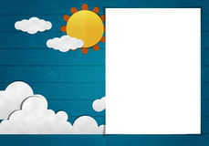 Blank Paper and Paper  Art Royalty Free Stock Photography