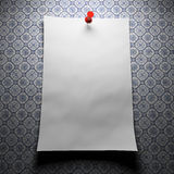 Blank paper on patterns Stock Photos