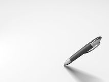 Blank paper with pen. Blank paper with silver pen Stock Photo