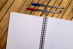 Blank paper with pen Royalty Free Stock Photography