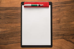 Blank paper and pen Stock Photos